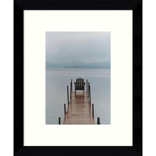 Framed Art Print 'Morning Watch (Dock)' by Orah Moore 9 x 11-inch