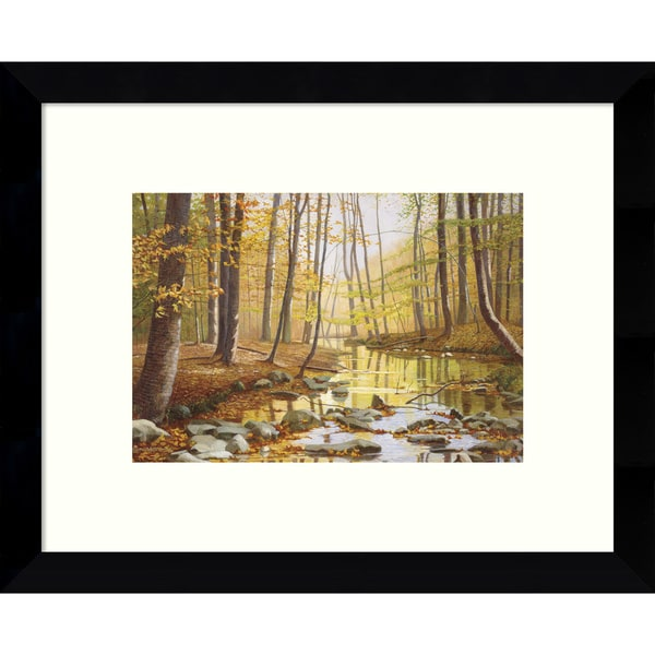 Framed Art Print 'Golden Flow Forest' by Gene McInerney 11 x 9-inch