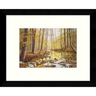 Framed Art Print 'Golden Flow Forest' by Gene McInerney 11 x 9-inch