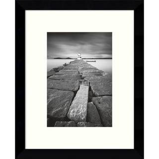Framed Art Print 'Breakwater Light' by Moises Levy 9 x 11-inch