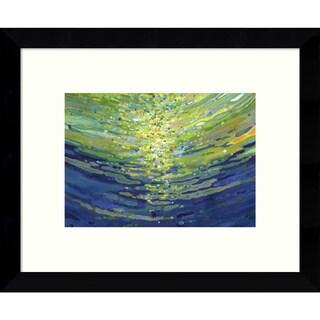 Framed Art Print 'Coral Waves II' by Margaret Juul 11 x 9-inch
