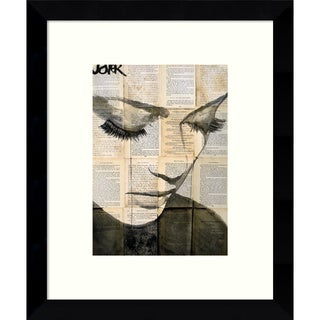 Framed Art Print 'Birds (Woman)' by Loui Jover 9 x 11-inch