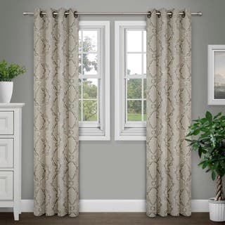 Journee Home 'Sare' Jacquard Grommet Top 84 in Curtain Panel|https://ak1.ostkcdn.com/images/products/12182100/P19032141.jpg?impolicy=medium