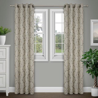 Journee Home 'Sare' Jacquard Grommet Top 84 in Curtain Panel (2 options available)