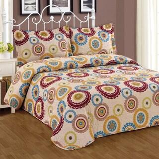 Journee Home 'Oakley' 3-piece Print Bedspread Set