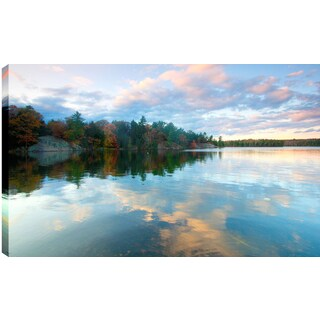 Hobbitholeco P.T. Turk 'Clear Sky Reflections' 24-inch x 36-inch Gallery-wrapped Ready to Hang Landscape Photography Wall Art