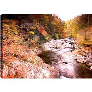Hobbitholeco 'Autumn Rocks' Landscape Multicolored Canvas Wall Art