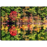P.T.Turk 'Reflcetions' Landscape Photography Gallery-wrapped Wall Art