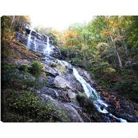 Hobbitholeco P.T. Turk 'Sloppy Waterfall' Landscape Photography 18-inch x 24-inch Ready-to-hang Gallery-wrapped Wall Art Decor