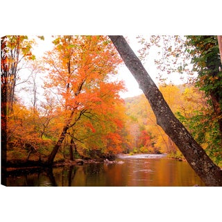 Hobbitholeco P.T. Turk 'Color Lake' 24-inch x 36-inch Gallery-wrapped Ready-to-hang Landscape Photography Wall Art Decor