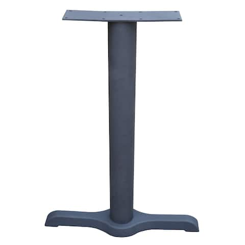 JI Bases 5.25 x 20-inch Cast Iron ADA End Base with 3-inch Column, and Steel Top Plate