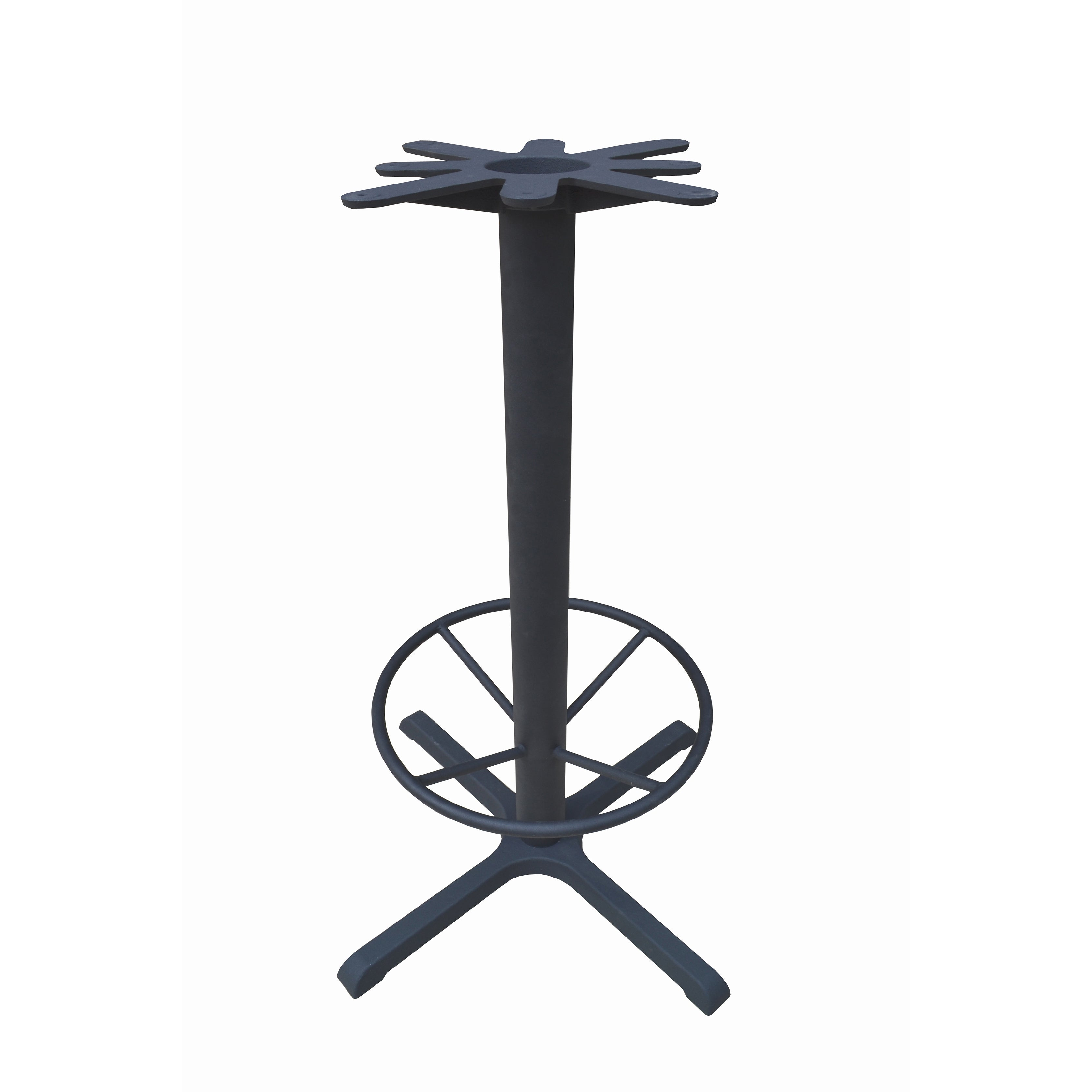 JI Bases Cast-iron 30 x 30-inch 4-prong Bar-height Table ...
