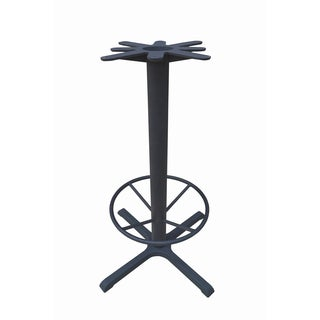 JI Bases Cast-iron 30 x 30-inch 4-prong Bar-height Table Base with 4-inch Column, 22-inch Footring, and 17-inch Top Plate