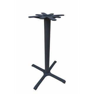JI Bases Cast Iron 30 x 30-inch 4-prong Bar Height Table Base with 4-inch Column, and 17-inch Top Plate