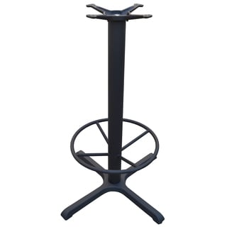 JI Bases 30 x 30-inch 4-prong Cast Iron Bar Height Table Base with 4-inch Column, 22-inch Footring, and 13-inch Top Plate