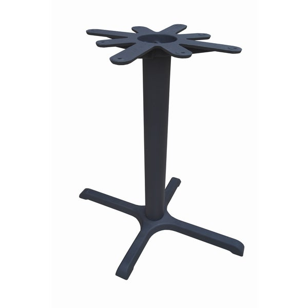 JI Bases Cast Iron 22 x 30-inch 4-prong Restaurant Table Base with 4-inch Column, and 17-inch Top Plate. Opens flyout.