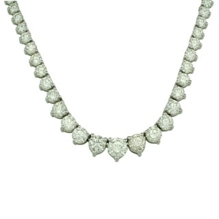 Sterling Silver and Cubic Zirconia 15-carat Tennis Necklace