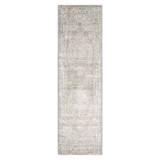 Porch & Den Greenpoint Lorimer Grey Distressed Oriental Runner Rug (2'2 x 7'6)