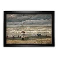 Vincent Van Gogh 'View of Sea at Scheveningen' Framed Print on Canvas