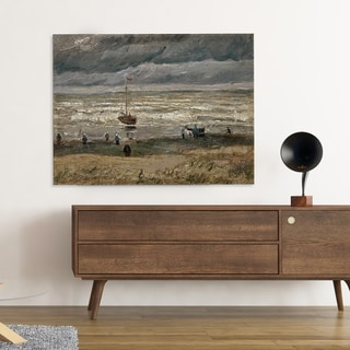 'View of Sea at Scheveningen' by Vincent Van Gogh Painting Print on Canvas