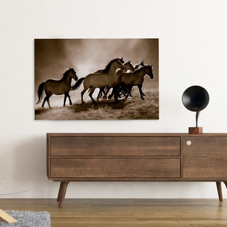 Lisa Dearing 'Wild Horses' Hand Wrapped Canvas