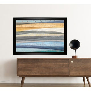 'Layers Of The Earth' Hand-wrapped Framed Canvas by Tava Studios