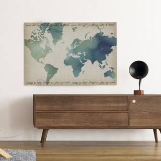 Map art gallery for less overstock watercolor world map gumiabroncs Images