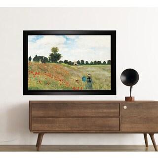 Claude Monet 'Poppy Field' Framed Art Print