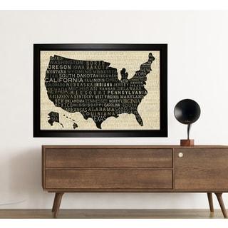 USA Collection Framed Map