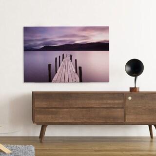 Danita Delimont 'Brandelhow Bay Jetty, Derwentwater' Framed Canvas Art