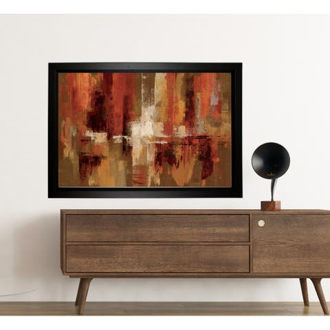 'Castanets' Framed Hand-wrapped Canvas