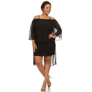 Hadari Woman Plus size evening black dress