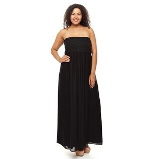 Hadari Woman Plus size strepless Maxi dress