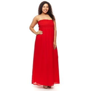 Hadari Woman Plus size strepless Maxi dress