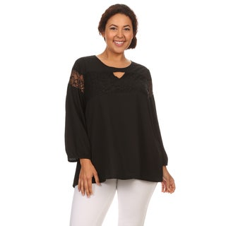Hadari Woman Plus size chiffon long sleeves top