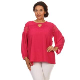Hadari Woman Plus size chiffon long sleeves top
