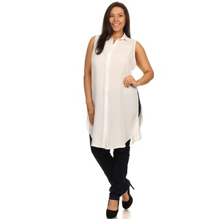 Hadari Woman Plus size sexy butten down tunic