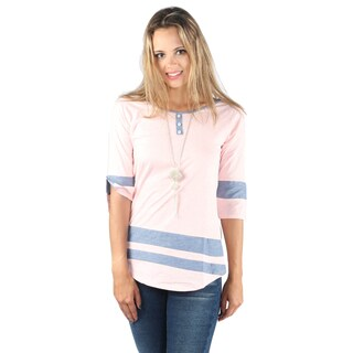Hadari Woman 3 botten neck line Shirt
