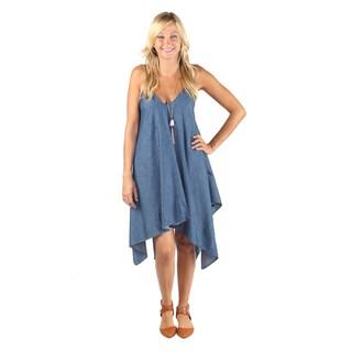Hadari Woman denim print Boho dress