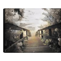ArtMaison Canada P.T.Turk 'Bridge' 18-inch x 24-inch Gallery-wrapped Ready-to-hang Landscape Photography Wall Art Decor