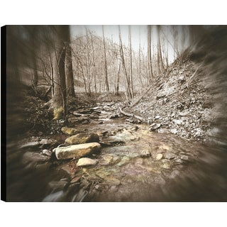 Hobbitholeco P.T.Turk 'River Edge' 18-inch x 24-inch Gallery-wrapped Ready-to-hang Landscape Photography Wall Art Decor