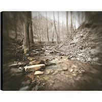 ArtMaison Canada P.T.Turk 'River Edge' 18-inch x 24-inch Gallery-wrapped Ready-to-hang Landscape Photography Wall Art Decor