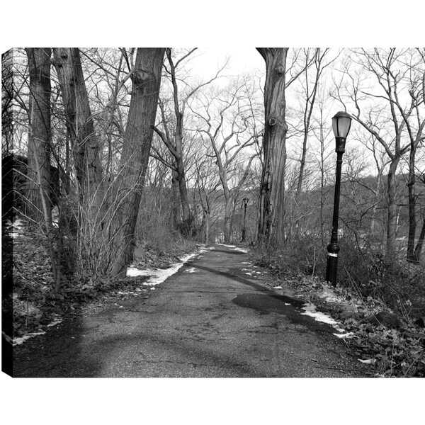 Hobbitholeco P.T.Turk 'Lamp on the Pathway' 18-inch x 24-inch Gallery-wrapped Ready-to-hang Landscape Photography Wall Art Decor