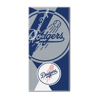MLB 722 Dodgers Puzzle Beach Towel