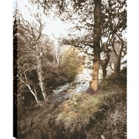 ArtMaison Canada P.T.Turk 'The Slope' 18-inch x 24-inch Gallery-wrapped Ready-to-hang Landscape Photography Wall Art Decor