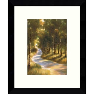 Framed Art Print 'Along the Way through the Forest' by Marc Lucien 9 x 11-inch
