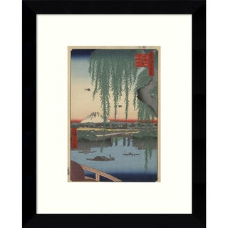 Framed Art Print 'Yatsumi no Hashi (Yatsumi Bridge), 1856' by Ando Hiroshige 9 x 11-inch