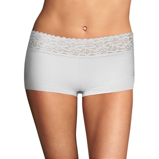 Link to Cotton Women's Dream White Boyshort with Lace Similar Items in Intimates