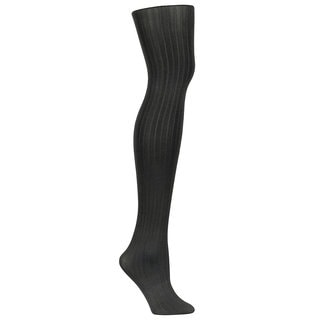 Casual Women's Black Rib Tight