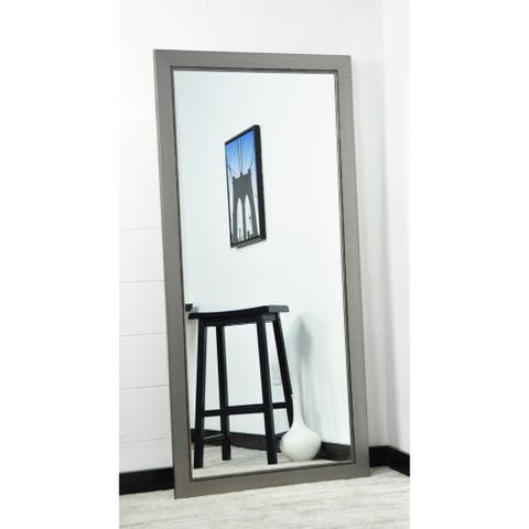 BrandtWorks Silver Lined 31.5 x 65.5 - Inch Floor Mirror - Nickel - 32 x 66